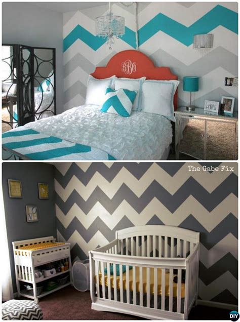 Painting Ideas Diy by Diy Patterned Wall Painting Ideas And Techniques Picture