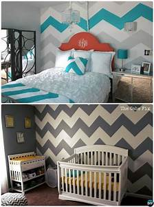 Diy, Patterned, Wall, Painting, Ideas, And, Techniques, Picture, Instructions