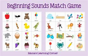 beginning sounds match game mamas learning corner With alphabet letter sounds games