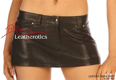 Micro Mini Leather Skirt