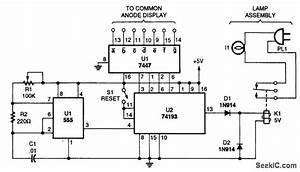 Lamp Timer - 555 Circuit - Circuit Diagram