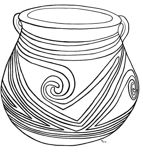 clay jar coloring page  open coloring pages