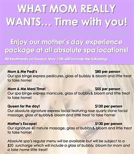 Mother's Day 2013 Specials! | absolute spa group