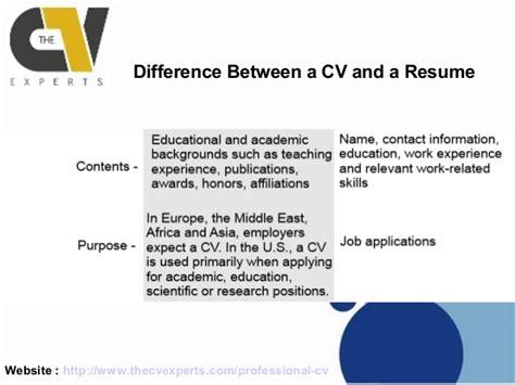 curriculum vitae curriculum vitae difference from resume