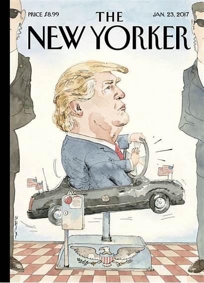 Yorker Barry Blitt President Wheel Yet Trump