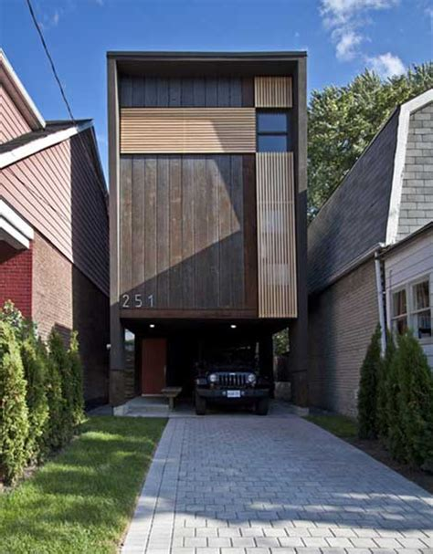 pinch shaft house maximizes   foot wide lot designs ideas  dornob