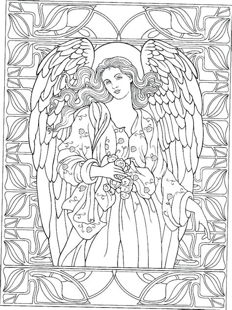 guardian angel coloring page  getcoloringscom