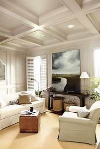 36 stylish and timeless coffered ceiling ideas for any With ceiling decorating ideas for living room