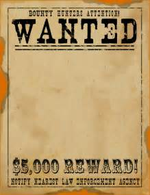 Wild West Wanted Sign Template