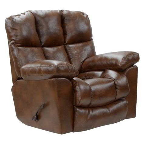 catnapper griffey leather power lay flat recliner in