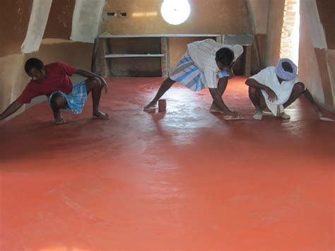 traditional red oxide floor