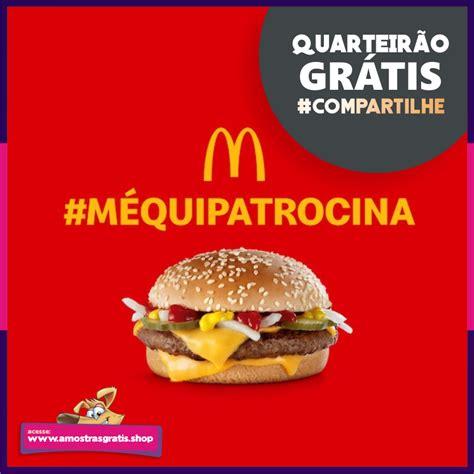 Nova Promoção dará uma lanche grátis na McDonald's   Brindes gratis, Mcdonalds, Amostras grátis