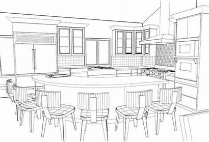 Perspective Kitchen Drawing Interior Sketch Google Beginners