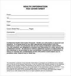Confidential Cover Sheet Template Sle Fax Cover Sheet 6 Documents In Pdf