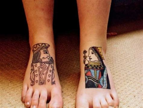 cute king  queen tattoo  couples dzinemag