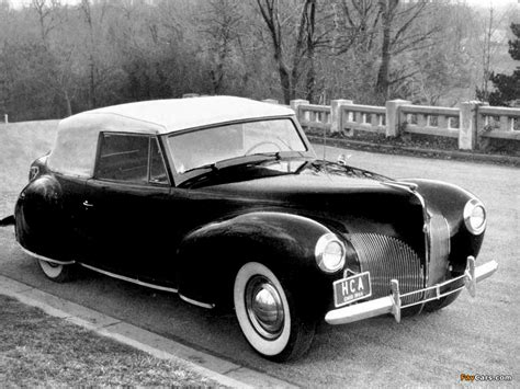 Wallpapers Of Lincoln Zephyr Continental Cabriolet 1939–40