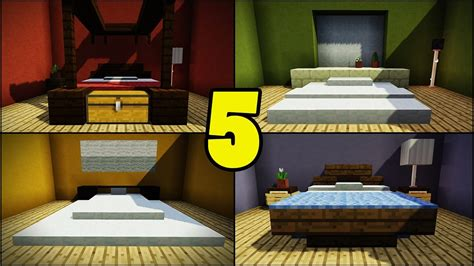 bedroom unique bed furniture design ideas  minecraft