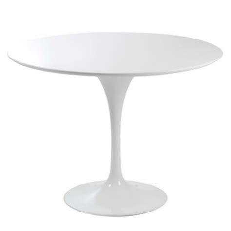 modern tulip white fibreglass cm  table