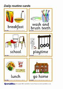 Printable ESL / EAL Daily Routine Vocabulary Teaching ...