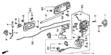 Honda Accord Door Lock Wiring Diagram by Honda Disconnecting Rear Lock Assembly Motor Vehicle