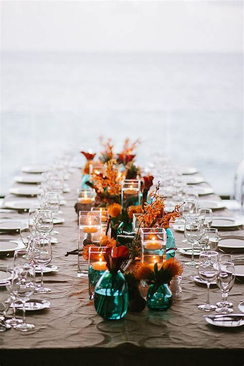 personalized tree skirt ideas picture of teal vases and jars with copper and orange