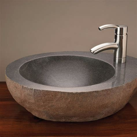 Natural Vessel with faucet mount ? Stone Forest