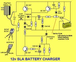 Electronics Projects  Battery Charger For 12v Sla Project