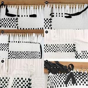 Teppich Selber Weben : teppich selber machen schwarz weiss weben anleitung diy ideen rund ums haus gewobener ~ Orissabook.com Haus und Dekorationen