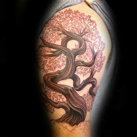 bonsai tree tattoo designs  men zen ink ideas