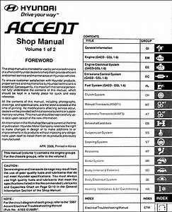 2007 Hyundai Accent Repair Shop Manual 2 Volume Set Original