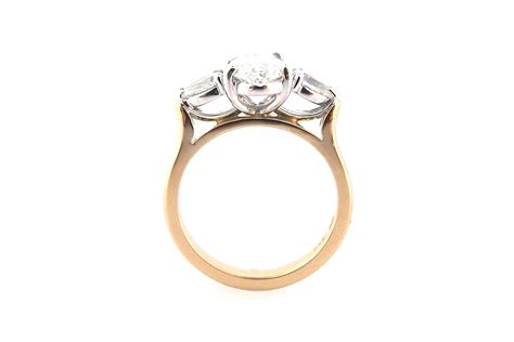 gold princess cut engagement rings oval ring with pear shape side stones browse