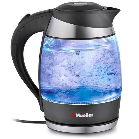 electric kettle water kettles tea rated glass pot cordless coffee amazon light liter boil borosilicate heater tech led shut bpa