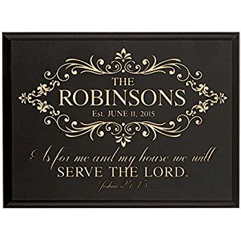 amazon com personalized as for me and my house we will serve the lord wall décor plaque joshua