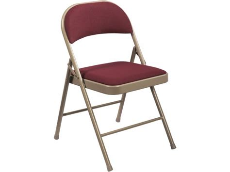 commercialine fabric padded folding chair ncl 960 folding