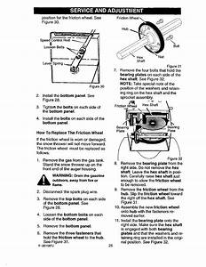 Page 25 Of Craftsman Snow Blower 536 88644 User Guide