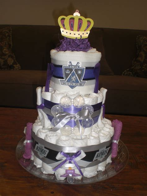 la kings diaper cake baby shower gift hockey baby