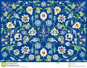 teppich der blumen im blau stockfotos bild 28568453 With balkon teppich mit hawaii blumen tapete