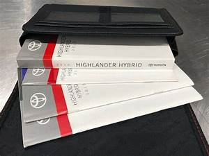 2011 Highlander Hybrid Owners Manual Books With Toyota