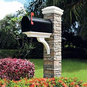 Eye, Level, Gray, 4, 66, Feet, High, Quality, Cast, Stone, Mailbox, Handcrafted, Post, Kit