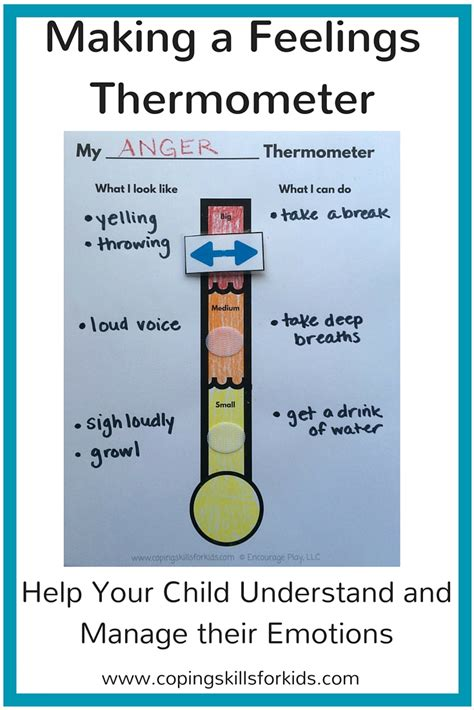 making  feelings thermometer coping skills  kids