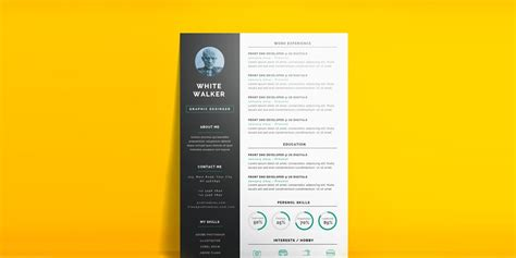 ultimate collection of free resume templates 187 css author