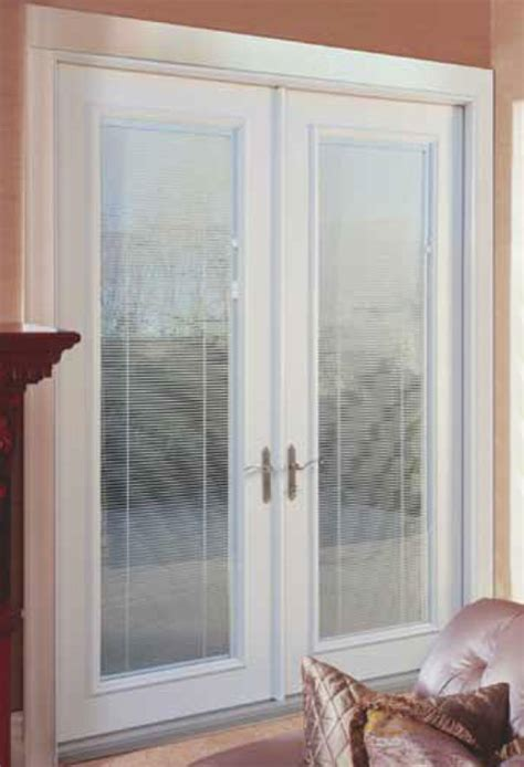 hinged patio doors with blinds images