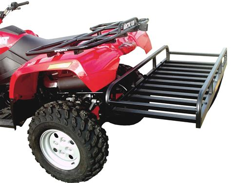atv rack accessories hitch n ride atv hitch hauler cargo rack