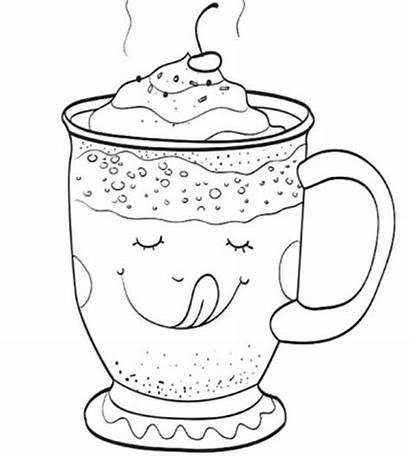 Coloring Coffee Pages Cup Printable Getcolorings