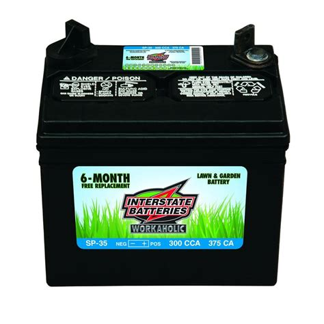 garden tractor battery interstate battery 5 1 4 in x 7 3 4 in lawn and garden