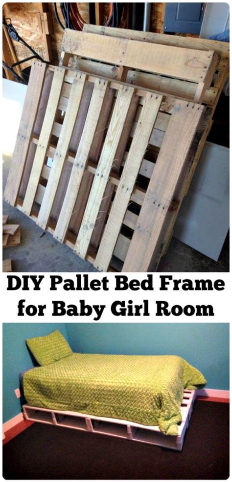pallet bed ideas step  step pallet bed frame