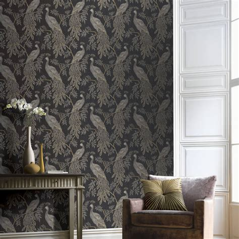 lazzaro blackgold glitter wallpaper arthouse katarina