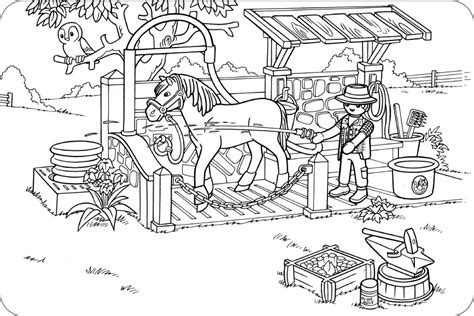 Ausmalbilder Playmobil Pferde
