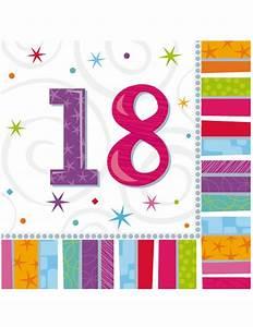 Geburtstagsgeschenk Für 18 Jährige : 16 papierservietten f r 18 j hrige partydeko und g nstige faschingskost me vegaoo ~ Frokenaadalensverden.com Haus und Dekorationen