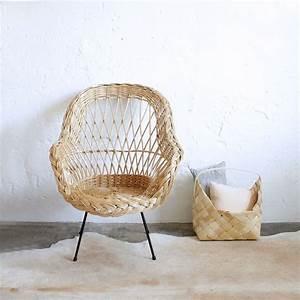 Fauteuil En Osier : fauteuil osier vintage atelier du petit parc ~ Melissatoandfro.com Idées de Décoration